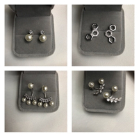 Used Bundle offer 925 silver earrings 3 in Dubai, UAE