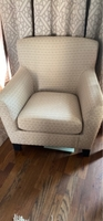 Used Ikea single chair with new cover  in Dubai, UAE
