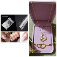 Beautiful golden accessories set + nail