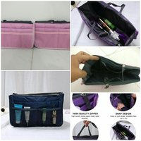 Double zipper cosmetic bag/ storage bag