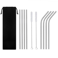 Used Stainless Steel Reusable Straws/22 pcs in Dubai, UAE