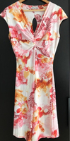 Used New Made in Italy white/flowers dress in Dubai, UAE