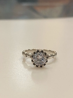 Used 925 Sterling silver solitaire ring size7 in Dubai, UAE