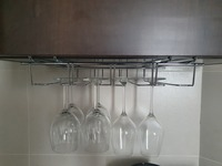 Used 6 wine glasses with metal holder in Dubai, UAE