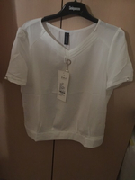 Used Brand New white Blouse(size L) in Dubai, UAE