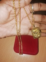 Used Amazing gold plated dragon necklace in Dubai, UAE