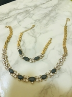 Used Gold plated necklace and bracelet in Dubai, UAE
