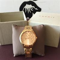 Esprit Watch Gold Used In Perfect Condition With Box