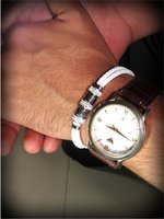 Used Hand Bracelet white leather (Unisex) new in Dubai, UAE