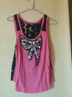 Cutest lace back crop pink top