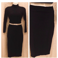 Used Black top and skirt size S in Dubai, UAE
