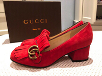 Used Gucci shoes red suede in Dubai, UAE