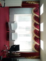 Used Golden Maroon Curtain Urgent Sale in Dubai, UAE