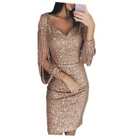 Used Golden Metal Sequins Dress/XL in Dubai, UAE