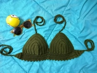 Used Crochet Teal Bikini Top in Dubai, UAE