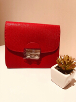 Used red handbag - small in Dubai, UAE
