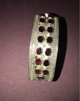 Used Silver bangle with ruby stones  in Dubai, UAE