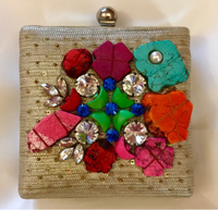 Colorful Embellished Parties Clutch