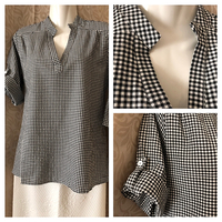 2XL checkered black/white t-shirt