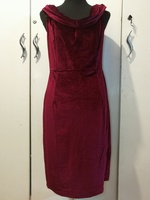 Used Brand new red velvet dress size M in Dubai, UAE