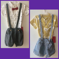 Used PatPat Suspender Set/ 12-18 mos in Dubai, UAE
