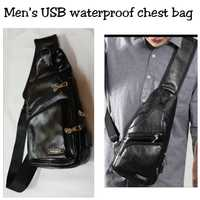 Used USB waterproof chest bag black color in Dubai, UAE