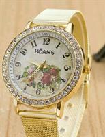 Golden Flower Dail Women Watch