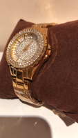 Bee sister diamond look watch gold