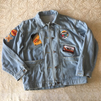denim jacket with cool retro patches