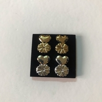 Used Instant earrings 2pcs gold/silver (new) in Dubai, UAE