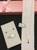 Set necklace and earrings w/ 1.71grams