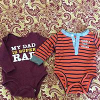 Used Boy Onesie Size 0-3 Months From Carter's  in Dubai, UAE