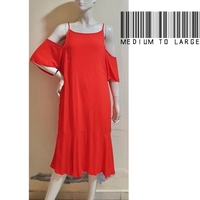 Used Orange offshoulder dress-med to large in Dubai, UAE
