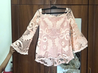 Used New Pinkish Peach lace top from splash💥 in Dubai, UAE
