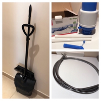 Used Dustpan+brush+water pump+shower tube in Dubai, UAE