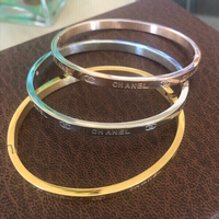 Stainless Steel Tri Color Bangles//