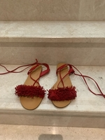 Used Red Oysho Beach Sandals with straps in Dubai, UAE