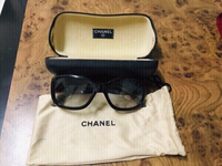 Used Chanel Black/Grey  CC LOGO Sunglasses  in Dubai, UAE