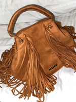 Used Authentic Charles&Keith Suede Handbag in Dubai, UAE