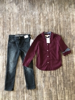Used H&M shirt and jeans size 7/8 years old  in Dubai, UAE