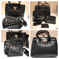 black handbag - medium 4 pcs