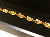 18k gold plated dragon charm bracelet