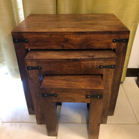 Used Wooden tables set of 3  in Dubai, UAE