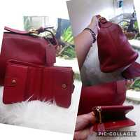 Used Authentic Coach Leather Bag with wallet in Dubai, UAE