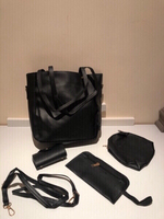 Used Bag set 4 pieces in black  in Dubai, UAE