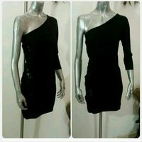Used Black of shoulder short dress in Dubai, UAE