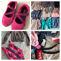Used Branded Clothes and shoes for girls 7/8 in Dubai, UAE