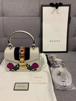 Used White Gucci mini Sylvie bag  in Dubai, UAE