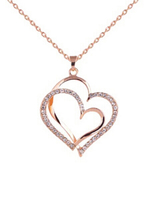 Heart shaped necklace with zircon