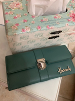 Used Authentic Harrods green wallet  in Dubai, UAE